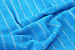 Blue Towel Texture As A Background. stock photo