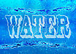 Blue Water Background With A Word Water