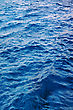 Blue Water Waves Effects. Sun Light stock photo