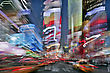 Blur Image Of Times Square In New York City At Night stock photography