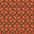 Boiled Lobster Seamless Pattern. Cooked Sea Food Background stock illustration