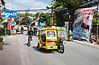 BORACAY, PHILIPPINES - MARCH 04: Tricycle On The Street, March 04, 2013, Boracay, Philippines. Motorized Tricycles Are A Common Means Of Passenger Transport Everywhere In The Philippines