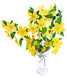 Bouquet Marsh Marigold Yellow Wildflowers In Vase