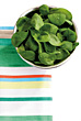 Bowl of Spinach Salad stock photo