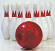 Bowling Ball & Pins stock photography