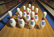 Bowling Pins stock photo