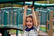Children Boy at Playground stock photo
