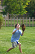 Boy Catching Baseball stock photography