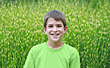 Boy in Green stock photography