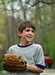Children Boy Playing Baseball stock photo