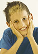 Boy Smiling stock image