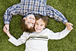 Happiness Boys Looking Up stock photo