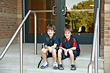 Boys Ready for School stock photography