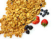 Bran And Raisin Cereal With Fruits And Berries stock photo