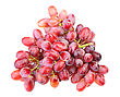 Branch Of Fresh Red Grape. Isolated On White Background. Close-up. Studio Photography