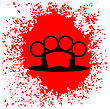 Brass Knuckle Icon And Blood Drop Isolated On White Background stock vector