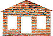 Brick House stock photo