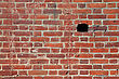 Destruction Brick Wall stock photo