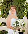 Smiling Bride stock image