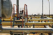 Bridge Over Gas And Oil Pipelines stock photography