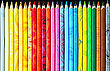 Bright Background With Set Of Color Pencils stock image