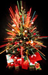 Bright Christmas Tree stock image