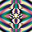 Bright And Funky Original Fractal Design, Abstract Psychedelic Art, Rainbow Mirrors