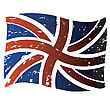British Flag, Isolated Vector Object On White