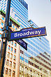 Nyc Broadway Sign In New York City stock photography