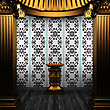 Bronze Columns, Pedestal And Tile Wall Made In 3D stock image