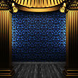 Bronze Columns And Tile Wall Made In 3D