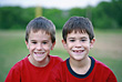 Brothers in Red stock image