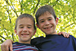 Brothers Smiling stock photo