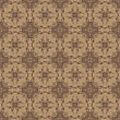 Brown Ornamental Seamless Line Pattern. Endless Texture. Oriental Geometric Ornament