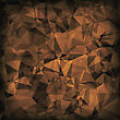 Brown Polygonal Background. Brown Crystal Triangle Pattern
