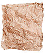 Brown Wrinkled Paper stock image