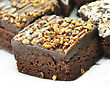 Brownies Close Up stock photography