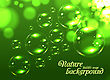 Bubble Soap Background. Green Nature Vector Illustration