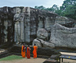 Buddha Statues, Polonnaruwa, Sri Lanka stock photo