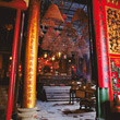 Buddhist Temple Man Mo in Hongkong stock image