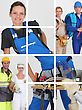 Building Professionals stock image