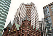 Buildings Old And New Toronto Yonge Street stock photography
