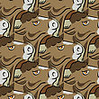 Bull Head Icon Seamless Pattern. Farm Cow Background stock illustration
