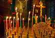Burning Candles In An Orthodox Church stock image
