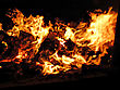 Burning Logs In Fireplace stock photo