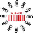 Business Bar Codes Against White Background