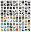 Business Or Finance Flat Application Icon Set Over White Background