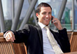 Business Man Talking On The Telephone stock photography
