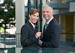 Business Man & Woman In Suits stock photo