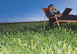 Symbolic Business Business Man Working Outdoors stock photo